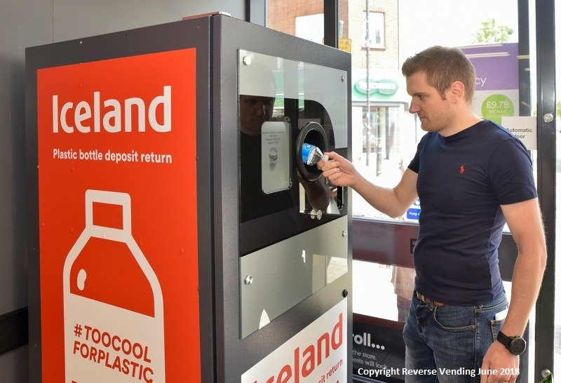 18 May, 2018 – Iceland became the first UK supermarket to install  Reverse Vending in store in support of the Government's recently announced intention to introduce a Deposit Return Scheme in England.